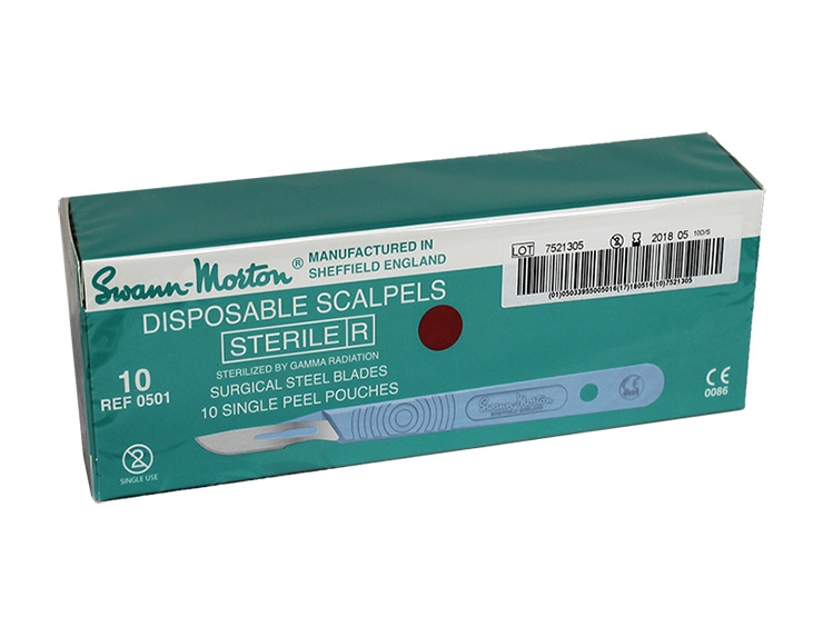 Swann-Morton Disposable Scalpels No 10 Pack of 10