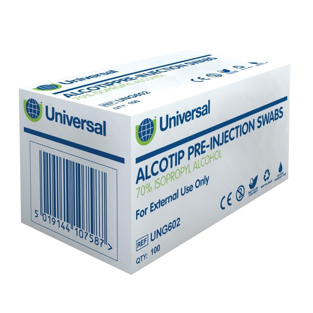 Universal Alcotip Pre-Injection Swabs